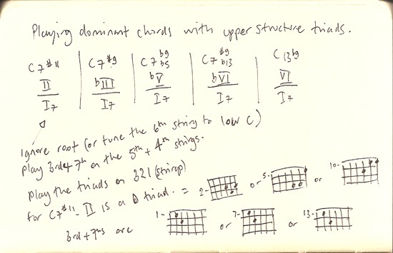 Playing dominant chords with upper structure triads ...