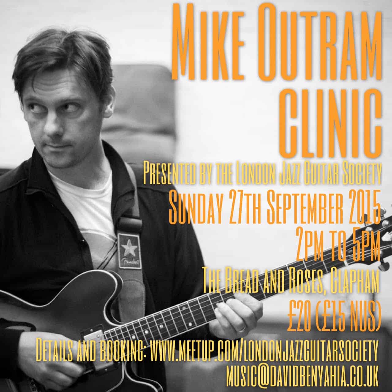 London Jazz Guitar Society Workshop September 27th 2015