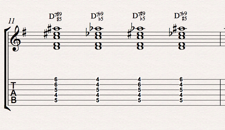 How to fiddle with chords and play altered dominants without tears ...